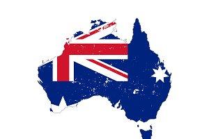 Australia country silhouettes