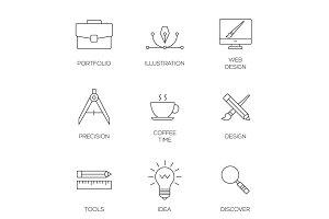 Creative design process concept
