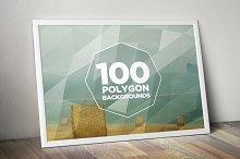100 Geometric Polygon Backgrounds