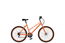 Set of Bicycle Design Flat Isolated
