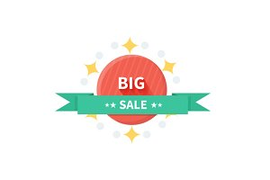 Badge Sale with ribbon
