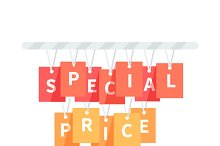 Special Price Badge Design Flat