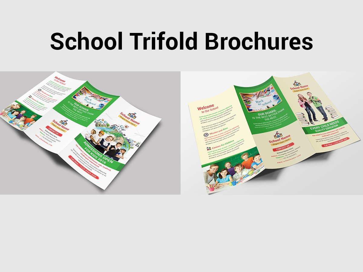 school trifold brochure photos graphics fonts themes templates