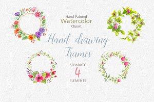 Watercolor wedding flowers