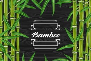 Backgrounds with bamboo.