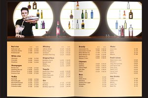 Universal Club Menu Template