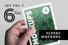 Flyer Mockups Set - Vol. 1