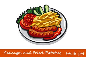 Sausages and Fried Potatoes