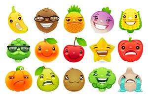 Funny Fruits and Vegetables Set.2