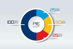 Pie round, circle graph, chart.