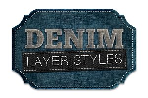 Denim Jeans Patch Layer Styles
