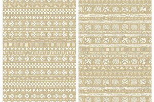 Mudcloth seamless patterns in beige