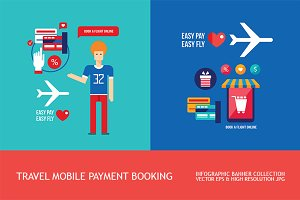 Mobile payment Buying ticket Banners