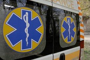 Ambulance emergency medical vehicle.