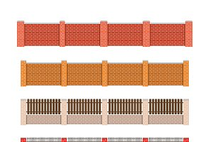 Brick fence set