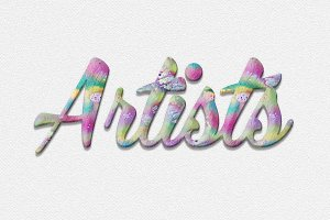 Artistic & Watercolor Text Effects