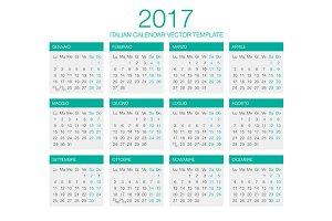 Italian Calendar Vector 2017