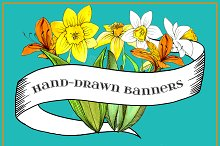 Hand-drawn Banners and Ribbons