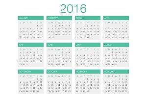 Calendar Vector Template 2017