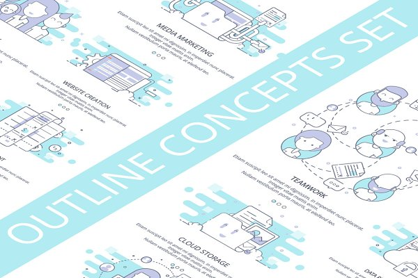 12 Outline Concepts and Icons