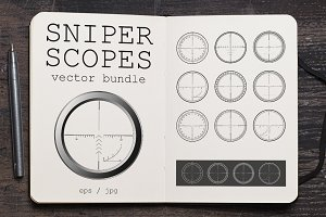 Sniper Scopes Vector Set #1