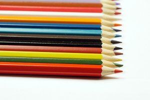 Taking colored pencil