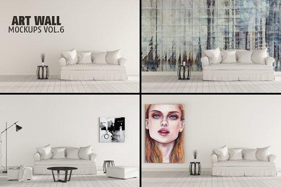 Art Wall Mock-ups VOL.6 - Product Mockups