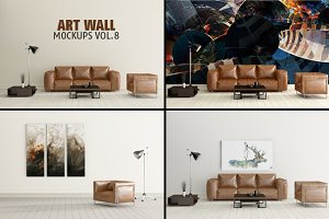 Art Wall Mock-ups VOL.8