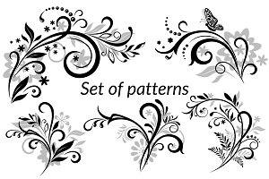 Vintage Calligraphic Patterns