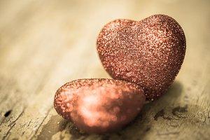 Valentine vintage hearts