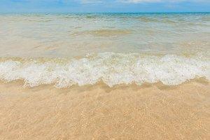Tropical sea wave on beach