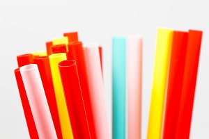 Colourful straw