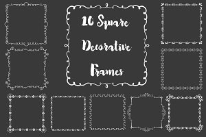 Square Decorative Frames - Vector
