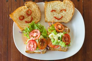 Happy sandwich