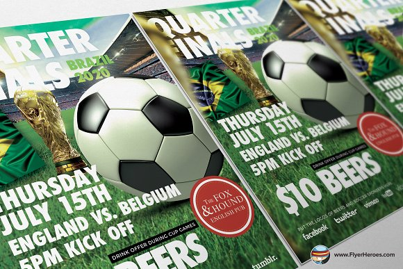 Soccer Flyer Template Flyer Templates on Creative Market – Soccer Flyer Template