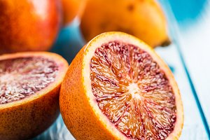 Juicy red oranges