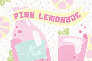 Pink Lemonade - retro display font