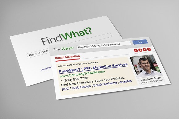 Search Engine Business Cards Bundle Business Card Templates