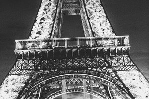 Eiffel Tower,Paris,B&W