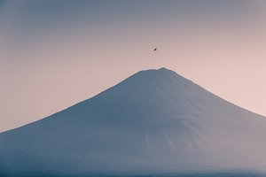 Top of Mt.FUJI without snow