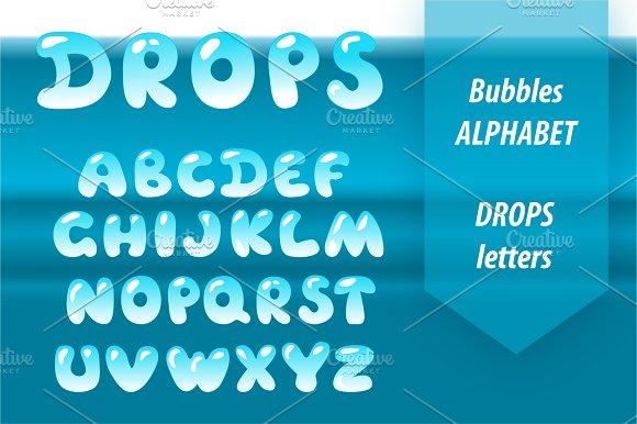 Bubble Letters Water Drop Font