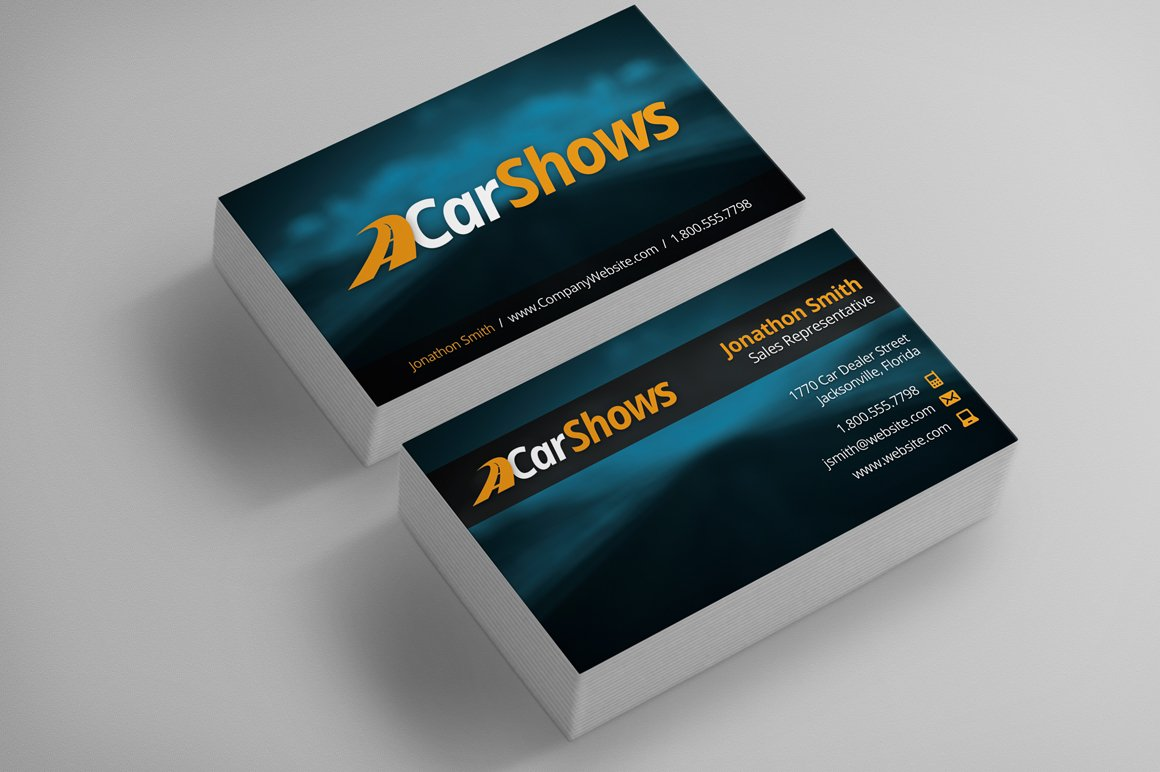 Rent a car business card business card templates creative market car business cards magicingreecefo Gallery