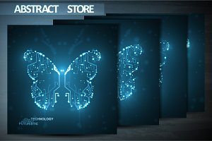 Abstract butterfly illustration
