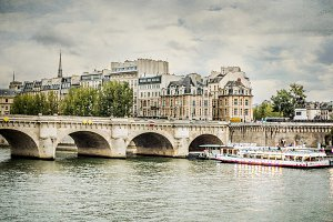 The Pont Neuf (New Bridge),Paris.
