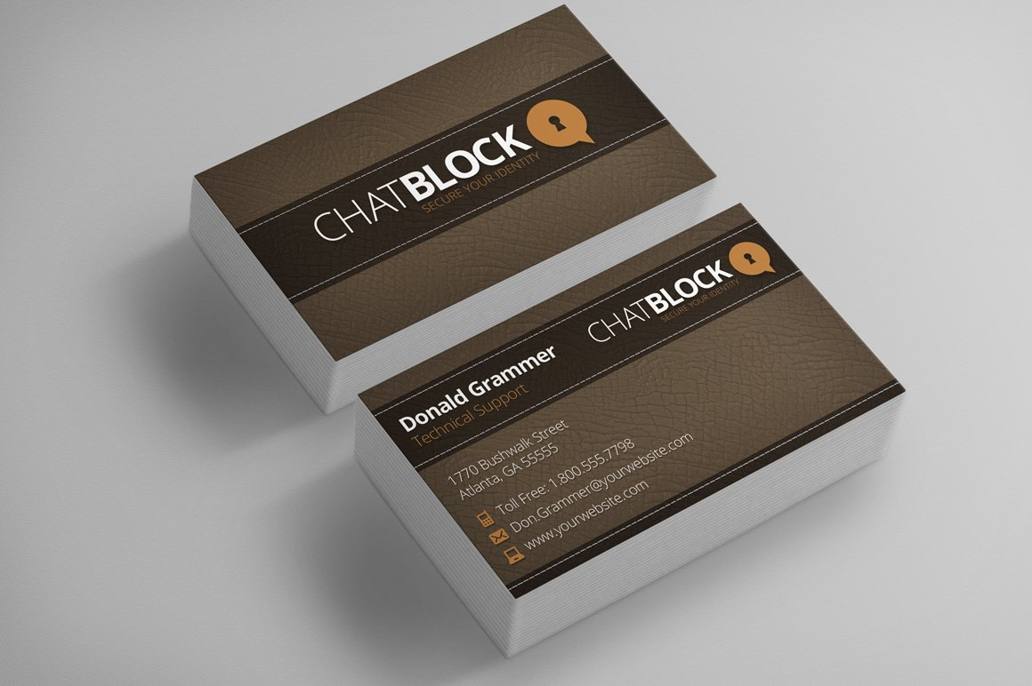Leather Business Cards + Free Logo ~ Business Card Templates ...