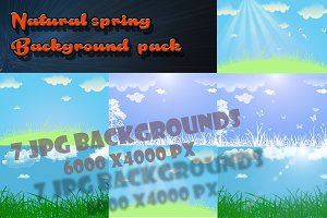 Springtime natural backgrounds pack