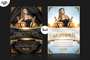 2in1 GOLD Flyer Template