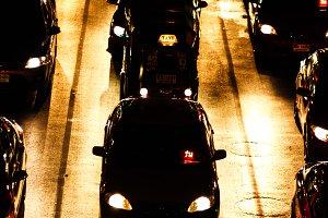 Traffic in night of Bangkok