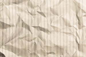 Wrinkled Lined paper
