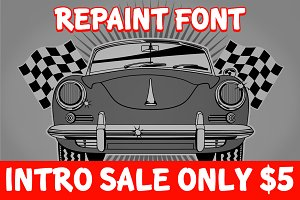 Intro Sale | Repaint & Repair Font